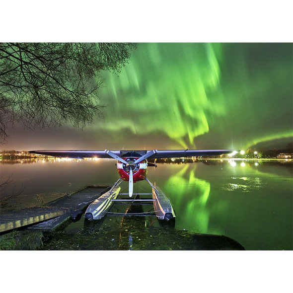 Aurora Borealis #4 - Pilot's Dream - 3D Lenticular Postcard Greeting Card