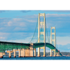 Mackinac Bridge by Day and Night - 3D Action Lenticular Postcard Greeting Card