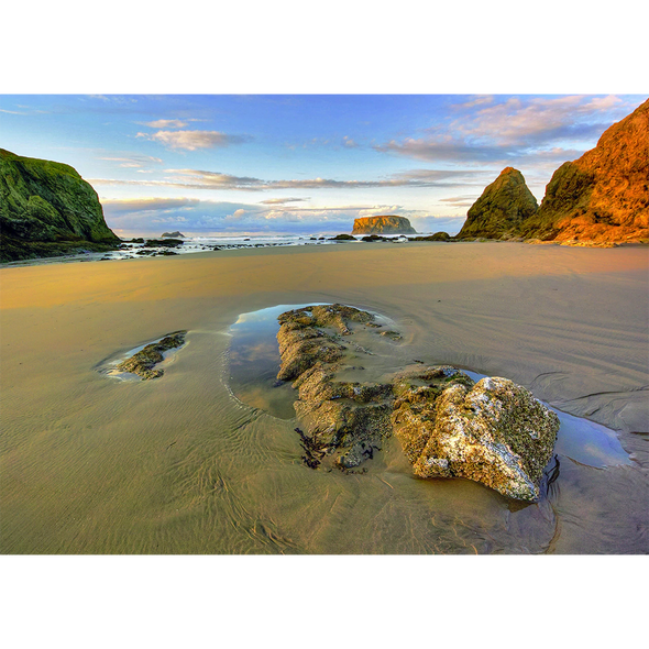 Pacific Cove at Sunset - 3D Lenticular Postcard Greeting Card