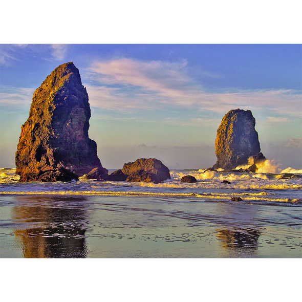 Pacific offshore rocks - 3D Lenticular Postcard Greeting Card