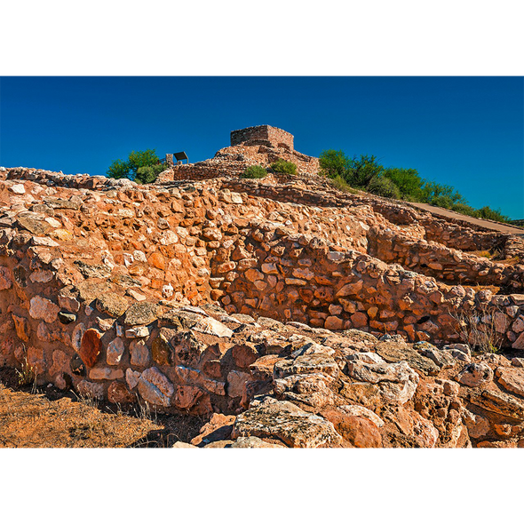 Tuzigoot National Monument - 3D Action Lenticular Postcard Greeting Card