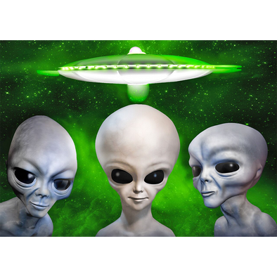 Aliens - 3D Lenticular Postcard Greeting Card