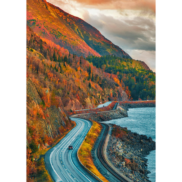 Turnagain Arm and the Seward Highway - 3D Lenticular Postcard Greeting Card