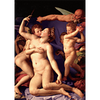 Agnolo Bronzino - Allegory of Venus  - 3D Lenticular Postcard Greeting Card