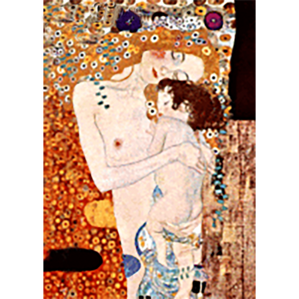 Gustav Klimt - Mother and Child (part of The Three Ages of Woman) - 3D Lenticular Postcard Greeting Card