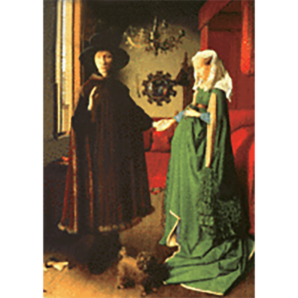 Jan Van Eyck - The Arnolfini Portrait - 3D Lenticular Postcard Greeting Card