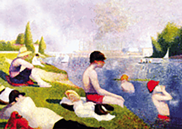 Georges Pierre Seurat - Bathers at Asnières - 3D Lenticular Postcard Greeting Card