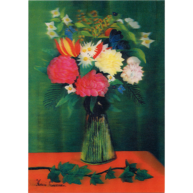 Bouquet of Flowers with an Ivy Branch - 3D Lenticular Postcard Greeting Card