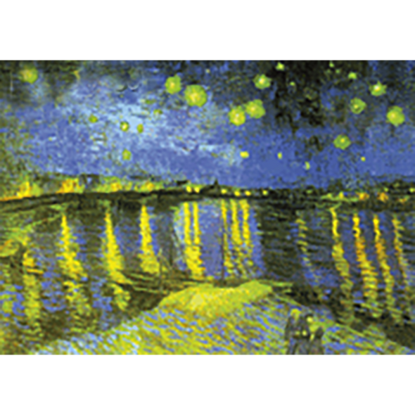 Vincent Van Gogh - Starry Night over the Rhone - 3D Lenticular Postcard Greeting Card
