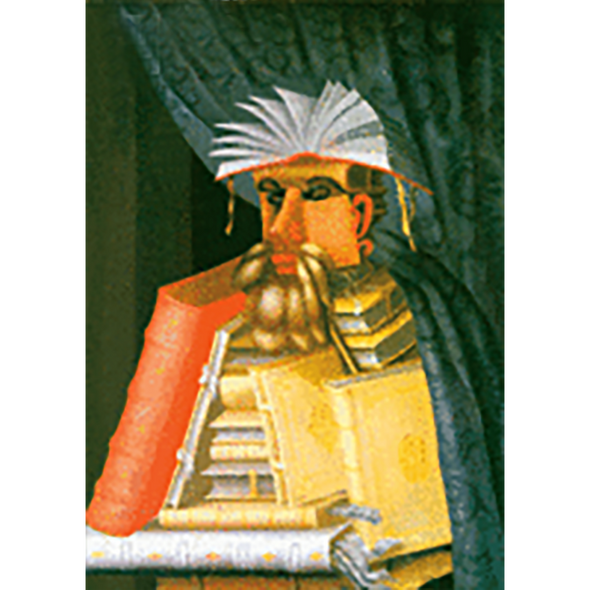 Guiseppe Arcimboldo - The Librarian - 3D Lenticular Postcard Greeting Card