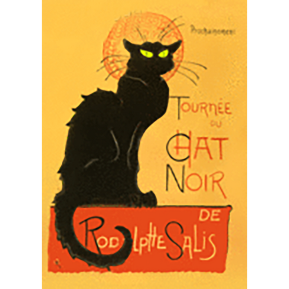T.A. Steinlen - The Black Cat - 3D Lenticular Postcard Greeting Card