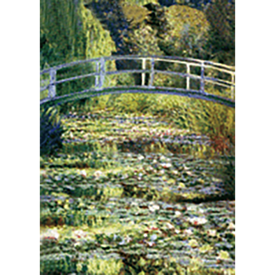 Claude Monet - The Water Lily Pond - 3D Lenticular Postcard Greeting Card
