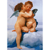 William-Adolphe Bouguereau - The First Kiss (L'Amour et Psyché, enfants) -3D Lenticular Postcard Greeting Card