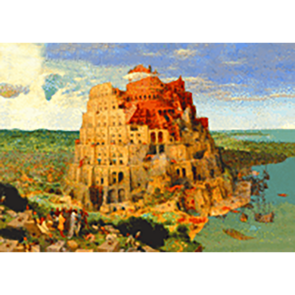Pietet Bruegel - The Tower of Babel - 3D Lenticular Postcard Greeting Card