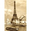 Eiffel Tower World Fair PARIS - 3D Lenticular Postcard Greeting Card