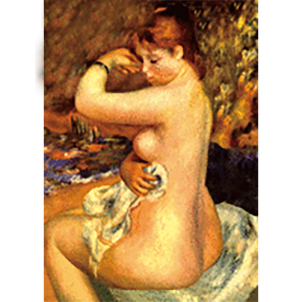Pierre-Auguste Renoir - After the Bath - 3D Lenticular Postcard Greeting Card