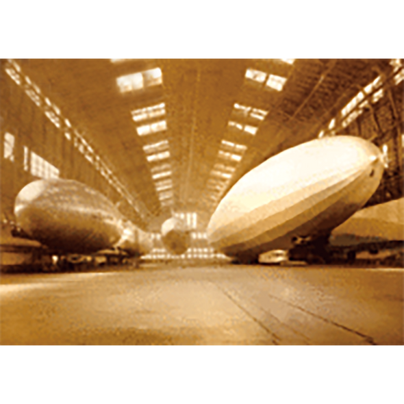 Airships - Graf Zeppelin - 3D Lenticular Postcard Greeting Card
