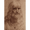 Leonardo Da Vinci - Self Portrait - 3D Lenticular Postcard Greeting Card
