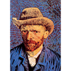 Van Gogh - Self Portrait - 3D Lenticular Postcard Greeting Card
