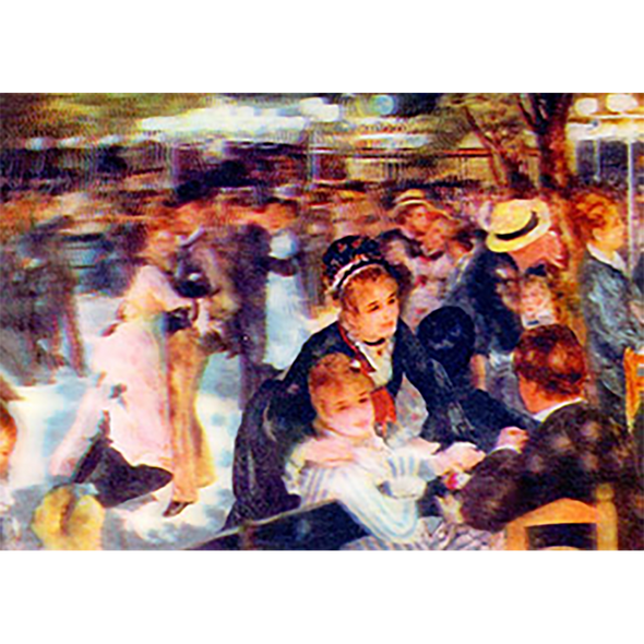 Pierre-Auguste Renoir -Dance at Le Moulin de la Galette(1876) - 3D Lenticular Postcard Greeting Card