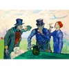 Van Gogh - The Drinkers - 3D Lenticular Postcard Greeting Card