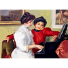 Pierre-Auguste Renoir - Yvonne and Christine Lerolle Playing the Piano (1897) - 3D Lenticular Postcard Greeting Card