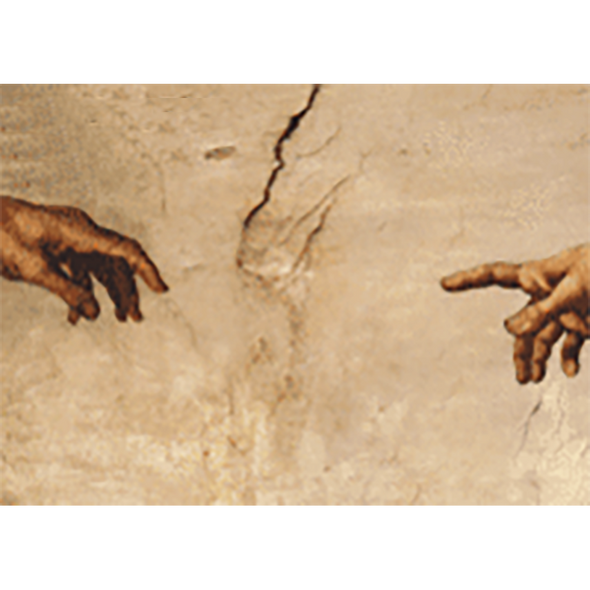 Michelangelo - The Hands of God and Adam - 3D Action Lenticular Postcard Greeting Card