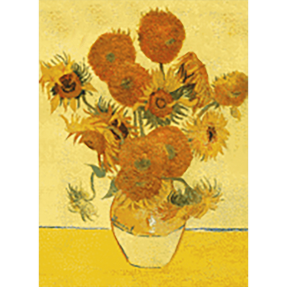 Vincent Van Gogh - fritillaries in a copper vase & Sunflowers - 3D Action Lenticular Postcard Greeting Card