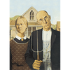Grand Wood - American Gothic - 3D Action Lenticular Postcard Greeting Card