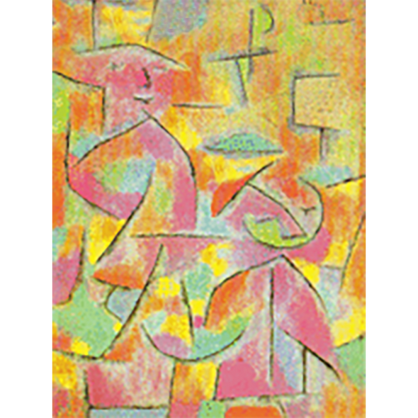 Paul Klee - Artsology and Daughter and Aunt - 3D Action Lenticular Postcard Greeting Card