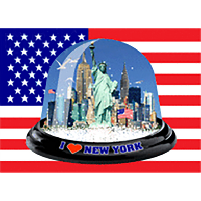 I Love New York - SNOW GLOBE - 3D Action Lenticular Postcard Greeting Card