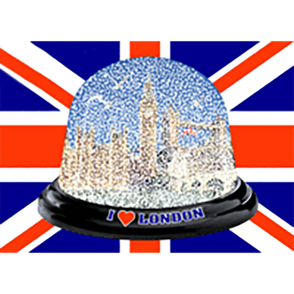 I Love London - SNOW GLOBE - 3D Action Lenticular Postcard Greeting Card