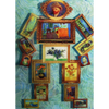 Van Gogh - Dancing Robot - 3D Action Lenticular Postcard Greeting Card