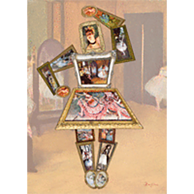 Edgar Degas - Ballerina - 3D Action Lenticular Postcard Greeting Card