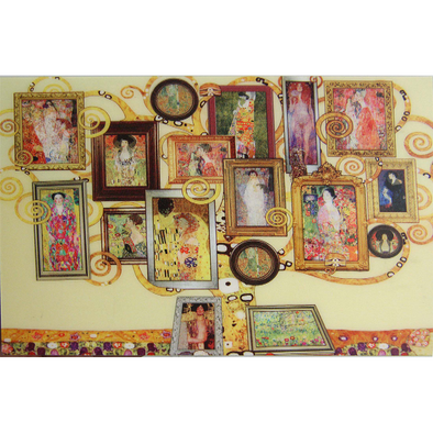 Gustav Klimt - Family Tree - 3D Action Lenticular Postcard Greeting Card