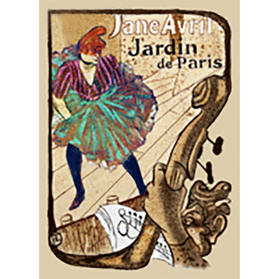 Henri de Toulouse-Lautrec - Jane Avril - 3D Action Lenticular Postcard Greeting Card