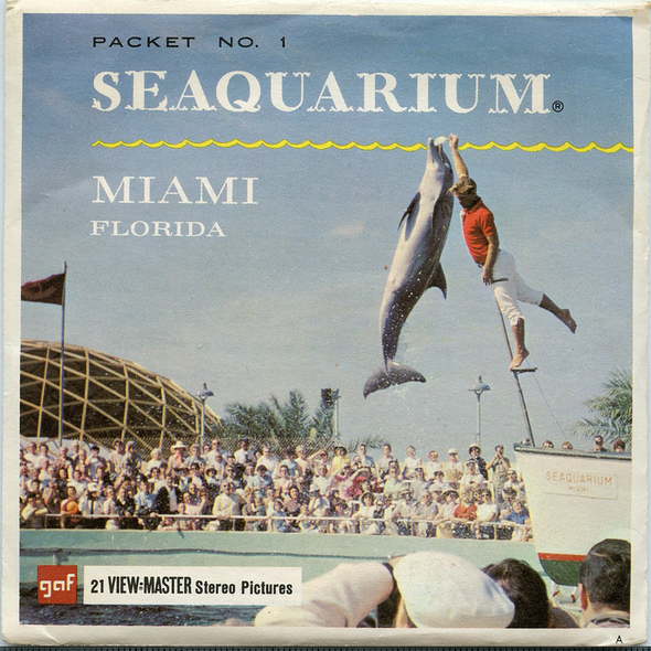 Seaquarium No. 1 - Miami, Florida- A966  - Vintage Classic View-Master 3 Reel Packet - 1960s views