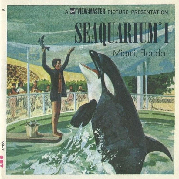 ViewMaster - Seaquarium - Miami, Florida  - A966 -  Vintage  3 Reel Packet - 1960s views