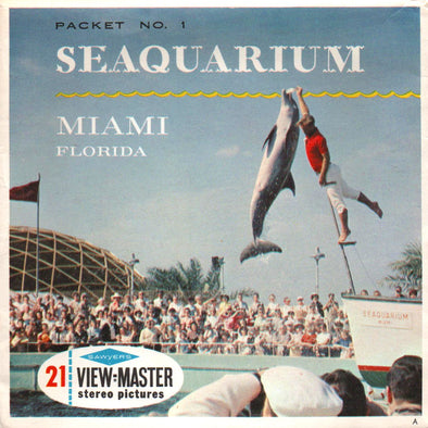 Seaquarium Miami, Florida - Vintage Classic View-Master® - 3 Reel Packet - 1960s Views