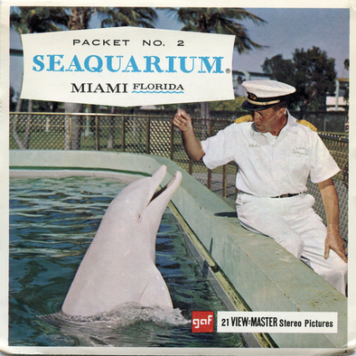 Seaquarium No. 2 - Miami, Florida  - Vintage Classic View-Master(R) 3 Reel Packet - 1960s views