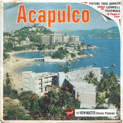 ViewMaster - Acapulco - B003 - Vintage - 3 Reel Packet - 1960s views