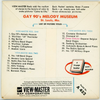 ViewMaster - Gay 90's - Melody Museum - A452 - Vintage  - 3 Reel Packet - 1960s views