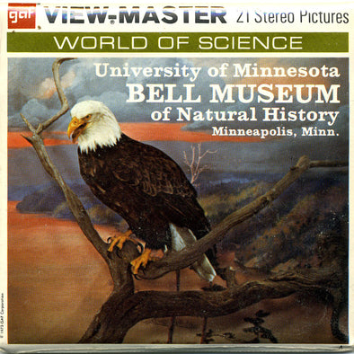 University of Minnesota BELL MUSEUM - Natural History - A513 - Vintage Classic Vieiw-Master 3 Reel Packet - 1970s views