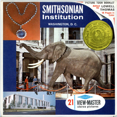 Smithsonian Institution in Washington D.C. - A972 - Vintage Classic View-Master - 3 Reel Packet - 1960s views