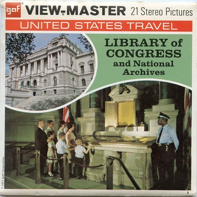 Library of Congress and National Archives - Vintage Classic View-Master(R) 3 Reel Packet - 1970s views