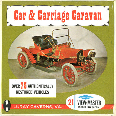 ViewMaster - Car & Carriage Caravan - A830-S6A - Vintage - 3 Reel Packet - 1960s Views