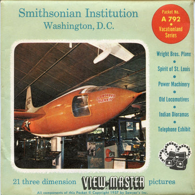 Smithsonian Institution, Washington D.C. - A792 - Vintage Classic View-Master - 3 Reel Packet - 1950s Views
