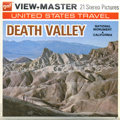 Death Valley National Monument - Vintage Classic View-Master(R) 3 Reel Packet - 1970s views