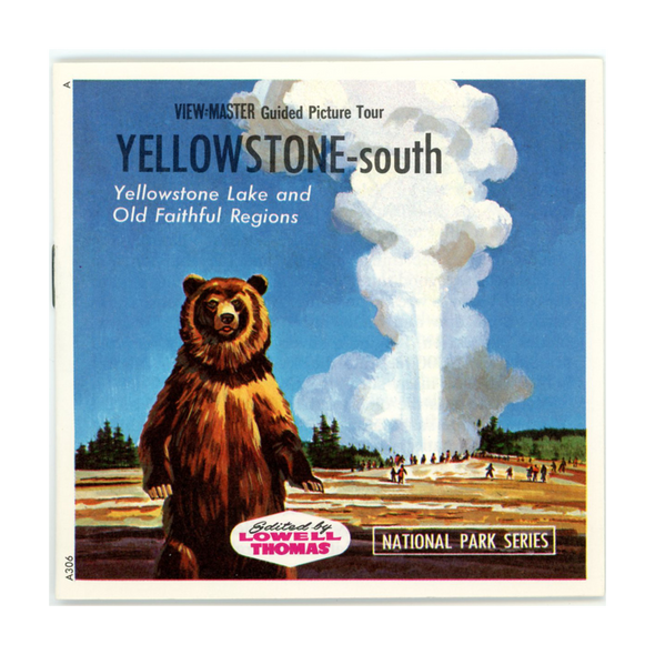 ViewMaster- Yellowstone National Park - South - A306 - Vintage  - 3 Reel Packet - 1960s views
