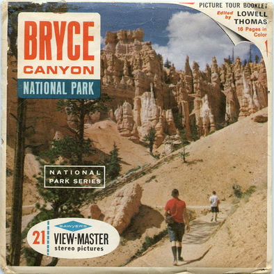 Bryce Canyon National Park - A346 - Vintage Classic View-Master - 3 Reel Packet - 1960s Views